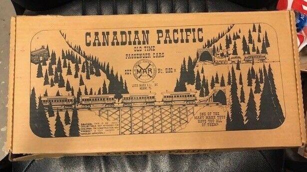 VINTAGE CANADIAN PACIFIC  OLD TIME  PASSENGER CAR SET (0 gauge)  MINT CONDITION