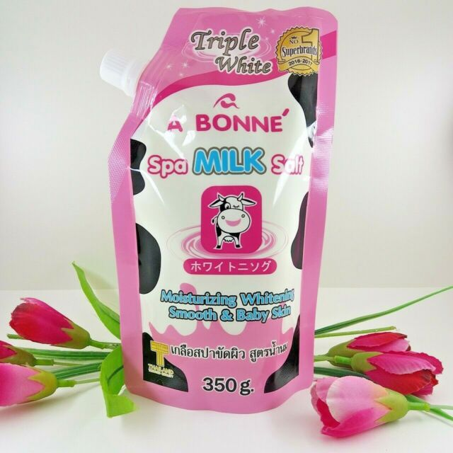 A Bonne Spa Milk Salt Moisturizing Triple Whitening Smooth & Baby Skin 350 g.
