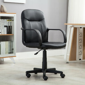 New-Modern-Office-Executive-Chair-PU-Leather-Computer-Desk-Task-Hydraulic-Black