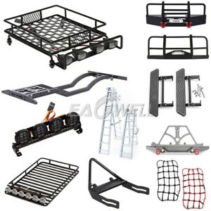 Front-Bumper-Roof-Luggage-Rack-Net-Ladder-For-1-10-Trx-4-Axial-SCX10-RC-Crawler