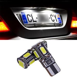 2-ampoules-a-LED-Blanc-feux-de-plaque-pour-Peugeot-107-207-208-307-308-407-508