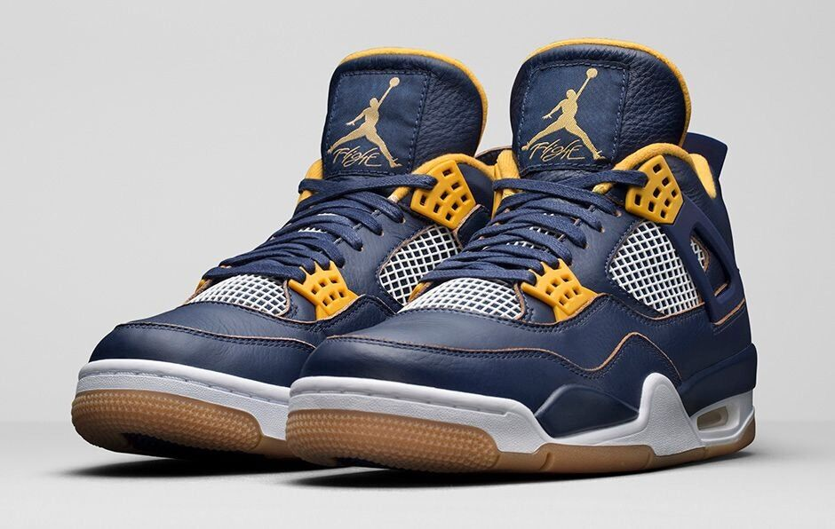 Men Nike Air Jordan 4 IV Retro Sz 7.5 Dunk From Above Navy Blue Gold 308497-425 best-selling model of the brand
