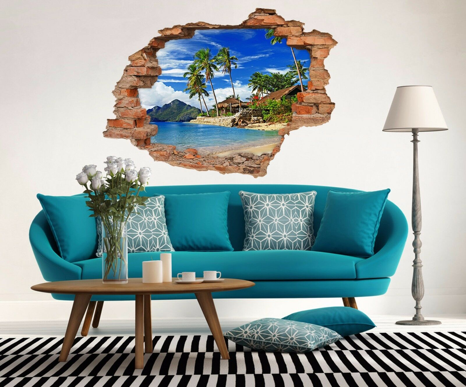 3D Holiday Island 8 Mauer Murals Mauer Aufklebe Decal Durchbruch AJ WALLPAPER DE