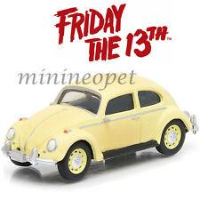 GREENLIGHT 44690D FRIDAY THE 13TH PART III 1963 VW VOLKSWAGEN BEETLE 1/64 YELLOW