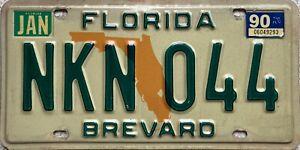 Florida-Orange-Map-Brevard-County-American-License-Licence-Number-Plate-NKN-044