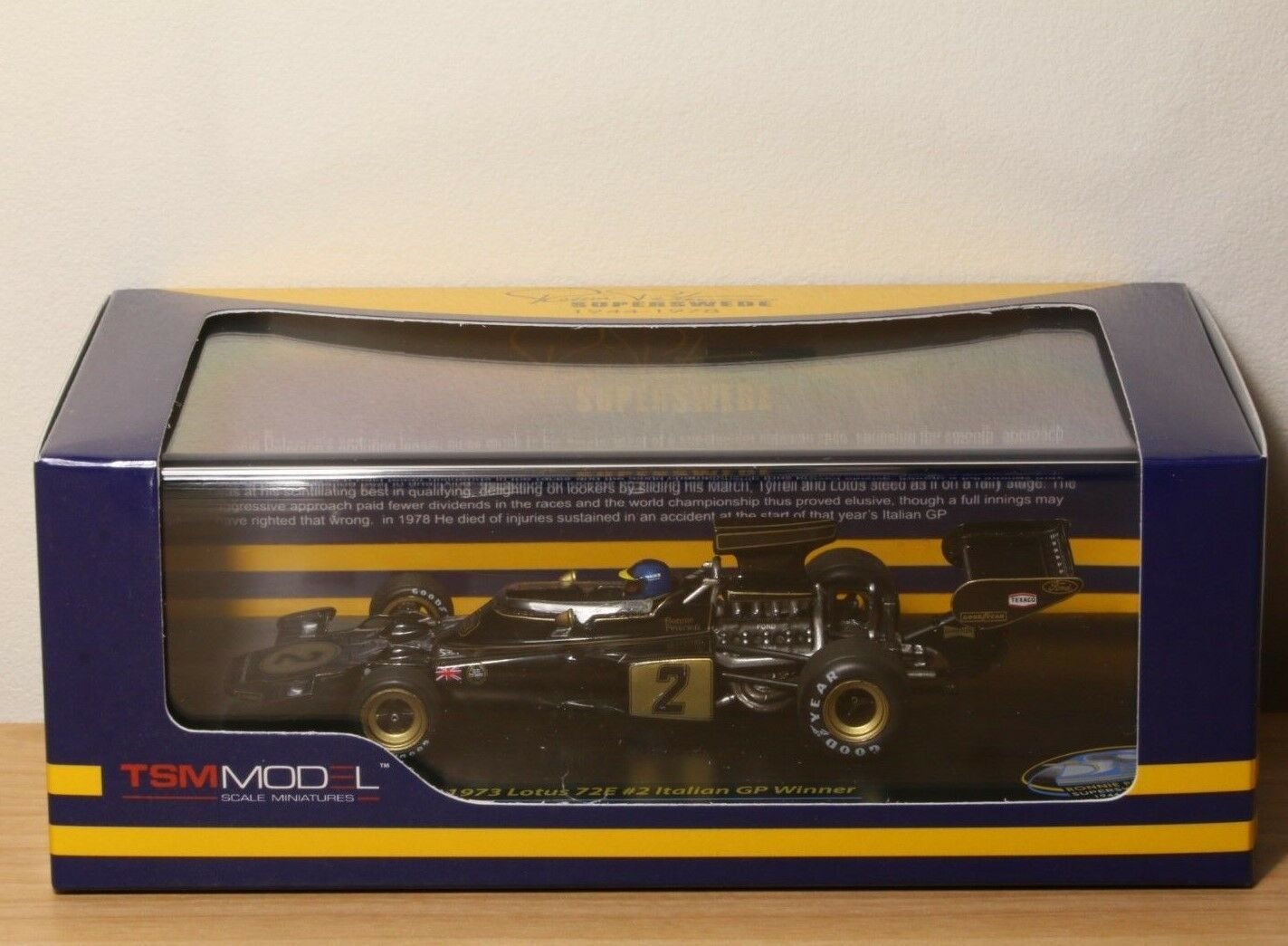 LOTUS 72E WINNER ITALIAN GP 1973 PETERSON TSM 1/43 124325 no Spark