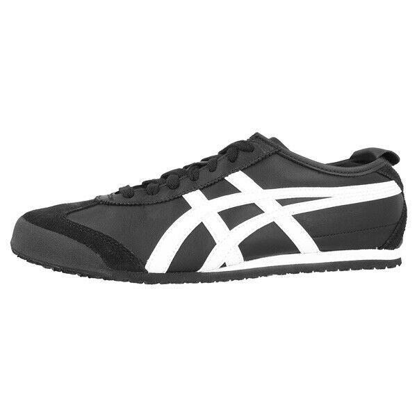 ASICS Onitsuka Tiger Mexico 66 Scarpe Retro scarpe da ginnastica nero bianca dl408-9001