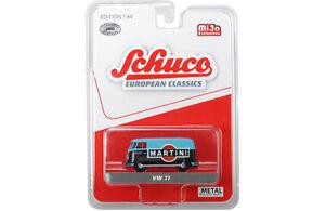 Schuco-1-64-European-Classics-VW-T1-VAN-BLUE-MARTINI-RACING
