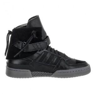 super popular 7c228 c3d01 Image is loading Adidas-Men-039-s-Forum-Hi-Moc-Black-