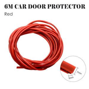 6M-Car-Door-Edge-Guard-Protector-RED-U-Profile-Roll-Moulding-Trim-Strip-UK