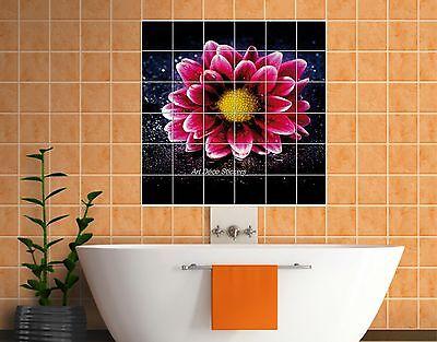 faience Sticker carrelage mural déco cuisine ou salle de bain Fleurs réf 835