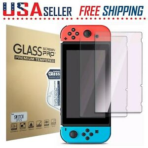For Nintendo Switch Screen Protector Tempered Glass HD Clear Anti-Scratch 2 Pack
