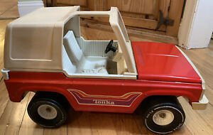 Tonka-Bronco-Jeep-Vintage-Large-Red-Steel-1970-039-s-Model-835TR-Made-In-USA
