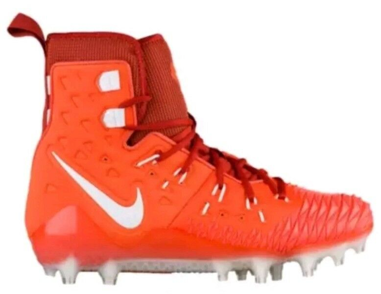 NIKE FORCE SAVAGE ELITE TD FOOTBALL CLEATS Orange Cinnabar Wht Sz10.5 857063-816