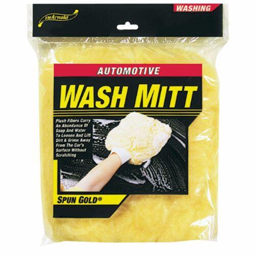 "SM Arnold Wash Mitt 9/""x 9/"" No Cuff All Ends Closed Car Wash RV Motorcycle 85-306"