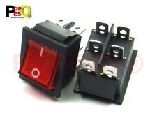 250V Schwarz Schalter mit Beleuchtung 23mm Rund 6A Rot Kunststoff #A1278