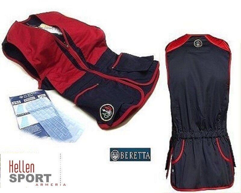 Gilet tiro Beretta colore blu e rosso S   MIS -  S rosso 42/44  M 46/48 089ca9