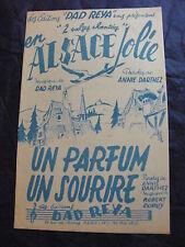 Partitur In Alsace Jolie Papa Reya ein Parfüm ein lächeln-d'A. Darthez R. Dupuy