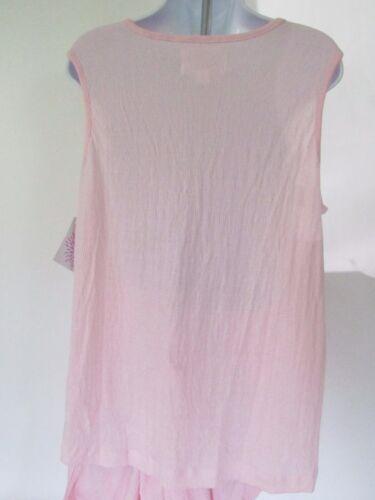 Coeur d'Alene Pajamas Lightweight Soft Gauzy Sleeves Top /& Capri Pants size M