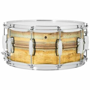 Ludwig-LB464R-Raw-Brass-Phonic-Snare-Drum-6-5-034-x-14-034