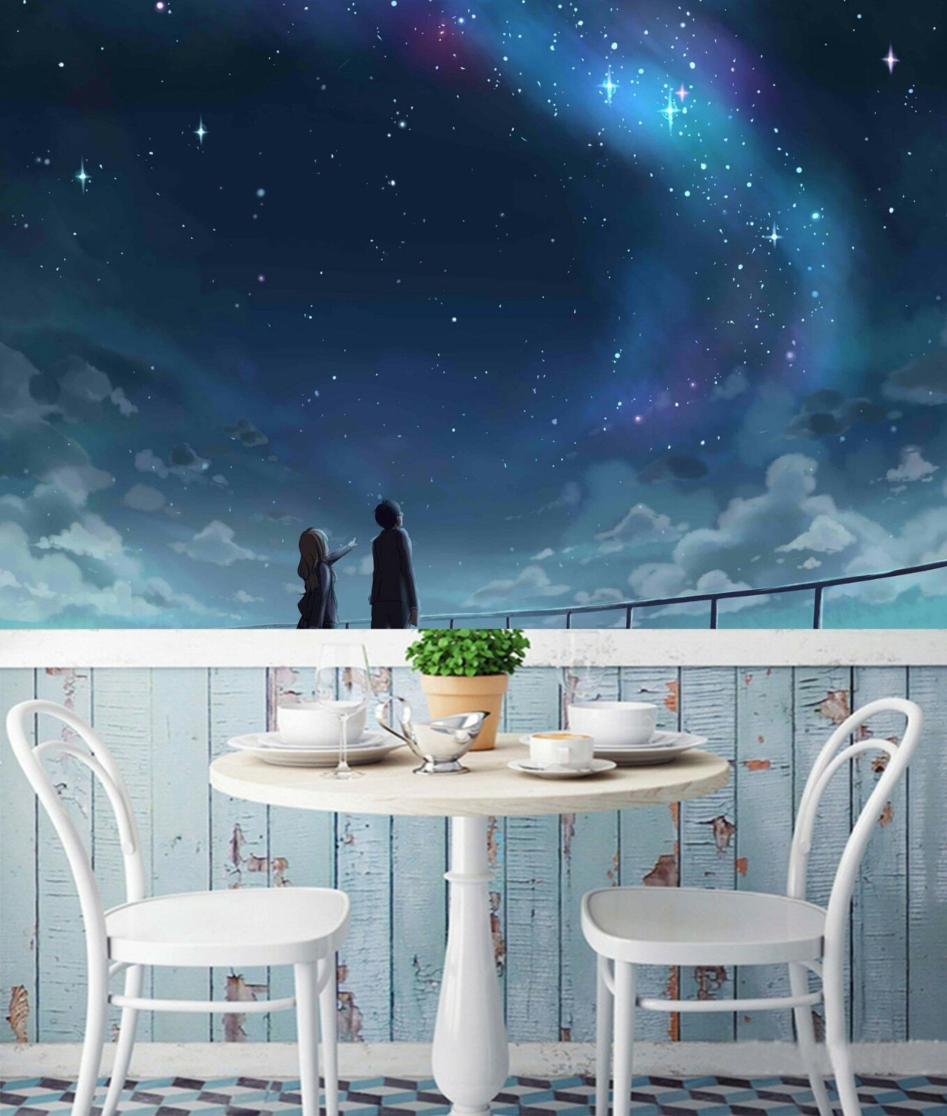 3D Starry Sky 7092 Wall Paper Print Wall Decal Deco Indoor Wall Murals US Summer