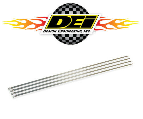 "For Up To 4/"" Diameter Pipe 4 Pack DEI 010202 Stainless Steel Locking Ties 14/"""