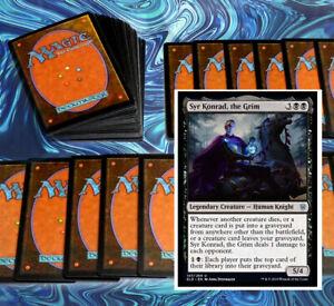 mtg-BLACK-SYR-KONRAD-COMMANDER-EDH-DECK-Magic-the-Gathering-rare-cards