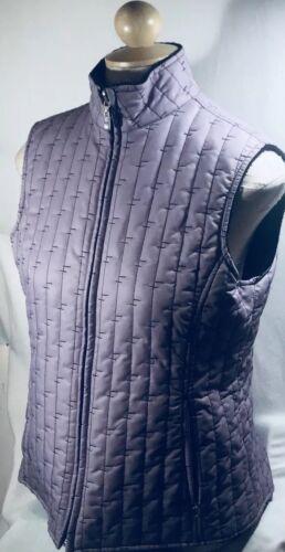 B77 Vest Reversible amp; M Buck Black Zip Lavender Ladies Cutter nwxSPS