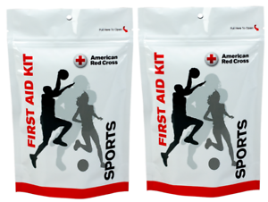 American Red Cross 28 Pc Sports First Aid Kit 2 Pack w/ Resealable Bag B040