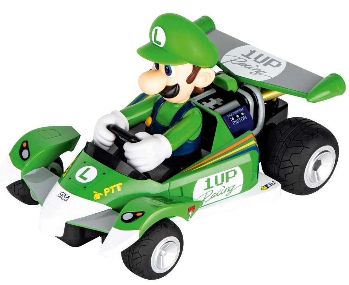 Carrera 200991 Mario Kart Circuito especial RC Coche: Luigi Luigi Luigi (Verde) Tamaño 25cm/10