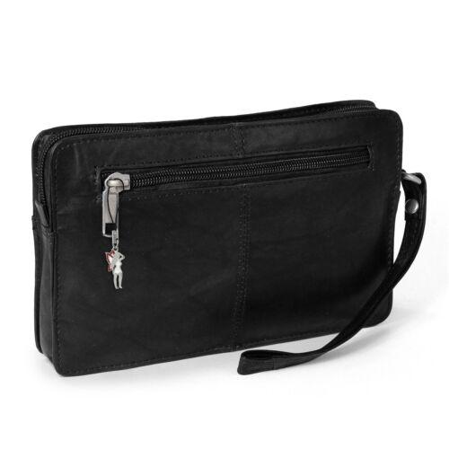 Messieurs sac cuir noir poignet sac hommes sac a main otj502s