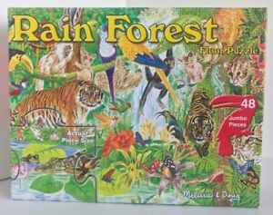 Details About Melissa And Doug Rainforest Floor Puzzle 48 Pieces 2 X 3 Feet Cardboard Complete