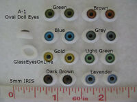 7 Pair Doll Eyes Oval Plastic 5mm Iris For Puppet, Troll, Jewelry, Doll (a-1)