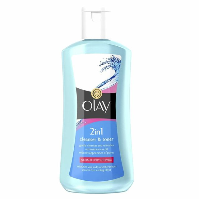 Olay Essentials Facial Cleanser & Toner 2-In-1 For Normal Dry Combo Skin 200ml