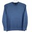thumbnail 1 - Banana Republic Organic Slub Cotton Ribbed Blue Knit Crewneck Sweater Size Large