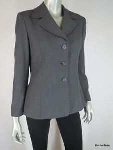 Stretch Klein Anne Size Blazer Grigio Classic Carriera Jacket 8p Suit 706adqx6