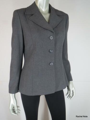 Classic Blazer 8p Suit Jacket Klein Anne Carriera Size Grigio Stretch q8PwU6