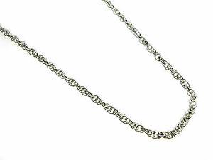 Sterling-Silver-rope-link-Necklet-Chain-Length-18-034-GREAT-VALUE