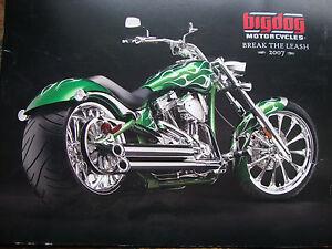 BIG-DOG-MOTORCYCLES-2007-SALES-BROCHURE-18-PG-K-9-CHOPPER-BULLDOG-MASTIFF-PB