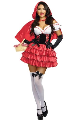 Details about  /Sexy 2PC Women/'s Red Riding Hood Halloween Fairytale Costume Medium