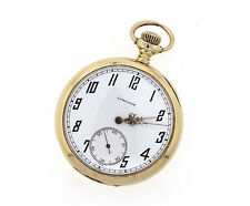 LONGINES Pocket Watch, 14K Yellow Gold Open Dial Manual Wind