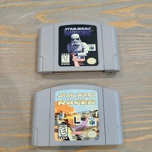 Lot-of-2-Star-Wars-Games-N64-Nintendo-Shadows-of-the-Empire-Episode-1-1-Racer
