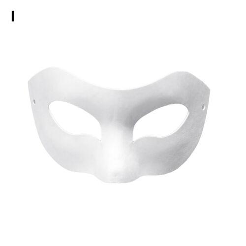 Blank Color Painting Masquerade Cosplay Pulp Mask Kindergarten DIY Craft Too HB