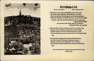 Rennsteig-Thueringen-DDR-s-w-AK-1960-Grosser-und-kleiner-Inselsberg-Rennsteig-Lied