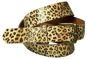 fronhofer Leopardo Cinturón de mujer ESTAMPADO LEO Hebilla Latón