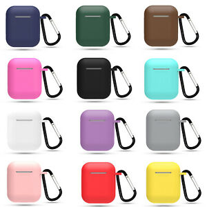 Silicone Protector Shockproof Full Cover Keychain For Apple AirPods Case 1 / 2