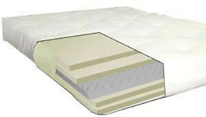 details about deluxe queen cotton foam 6 8 thick futon mattress