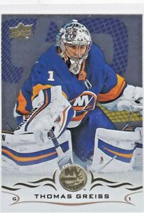 Thomas-Greiss-2018-19-Upper-Deck-Hockey-Sammelkarte-Silver-Foil