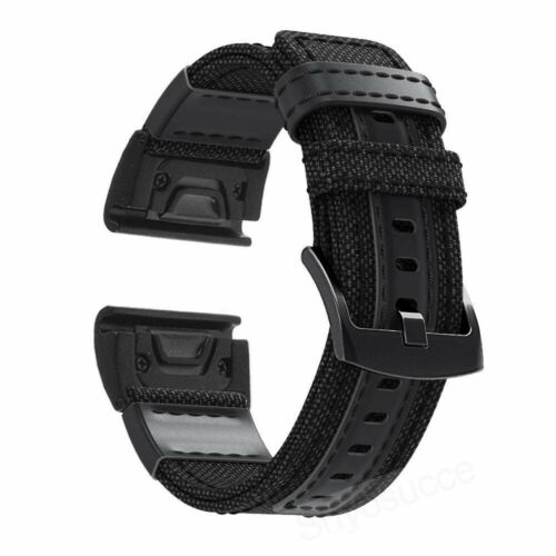 All 20//22mm Quick Release Woven Nylon Canvas Wristband Fabric Leather Band Strap