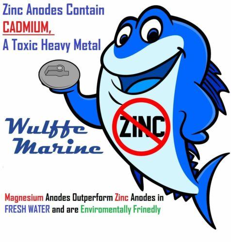 """Magnesium 2 13//16/"""" Rudder /& trim tab anode  R2"""